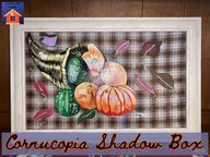 Cornucopia Shadow Box - lovemycottage