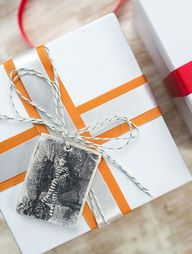 Clay gift tags with