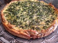 SPINACH QUICHE with Crispy POTATO CRUST * vegetarian * - Cindys ON-Line recipe box