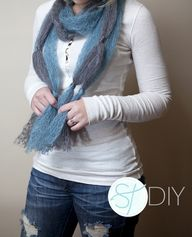 DIY Knotted Scarf