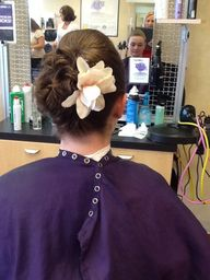 Updo with flower fro