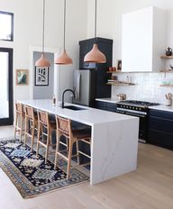 A Complementary Color Palette Elevates a Contemporary Kitchen   Hunker