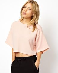 Boxy pale pink top,