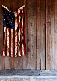 An Old American Flag...