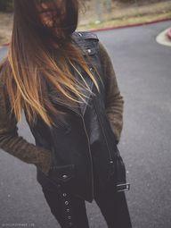 Leather Vest + Olive