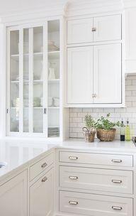 Lake House White Kitchen - The Lilypad Cottage
