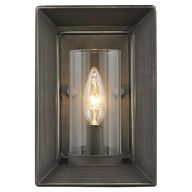 Steel wall sconce wi