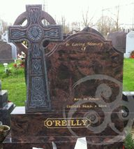 Aurora marble w/ Celtic Cross