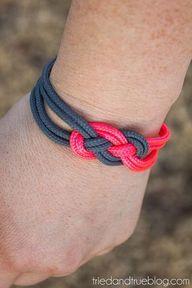 Super Easy Sailor Knot Bracelet for Valentines Day - Wear #diybraceletssimple