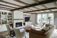 Accentuating This Living Room's Low Ceiling Actually Made It Feel Huge