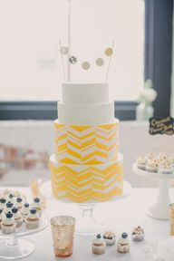 Chevron Cake #yellow