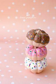 DIY donut pumpkins