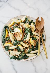 kale asian pear sala