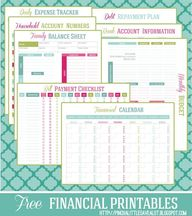 printable financial