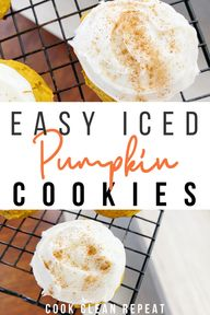 These simple iced pumpkin cookies are perfect for fall. I love to make this pumpkin cookies recipe to share, theyre always a crowd pleaser!