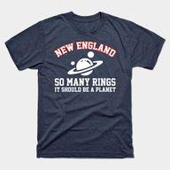 New England so many rings - New England Patriots - T-Shirt   TeePublic