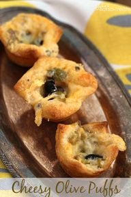 Cheesy Olive Puffs ~