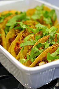 Baked Crunchy Tacos.