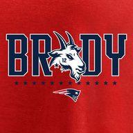 Mens New England Patriots Tom Brady Fanatics Branded Red GOAT Graphic T-Shirt - NFLShop.com