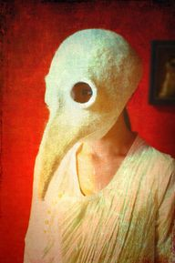 Felted plague doctor