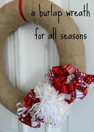 make a burlap wreath