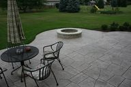 concrete patio with