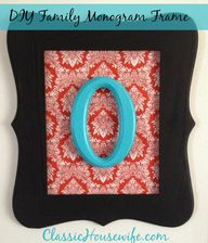 DIY Family Monogram