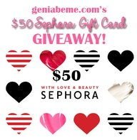 $50 Sephora Gift Car