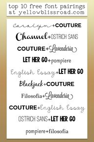 Top 10 Free Font Pai