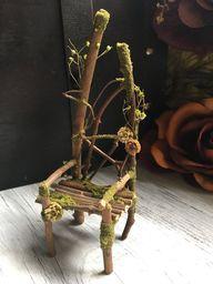 Faery Chair miniature fairy chair fairy furniture handmade | Etsy