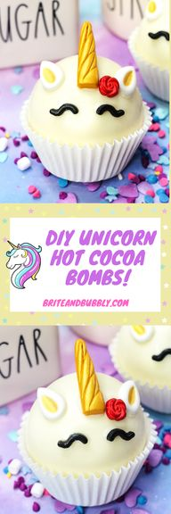 Easy Unicorn Hot Cocoa Bombs!