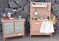 Wooden toy kitchen (