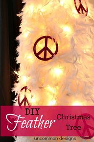 DIY Feather Christma