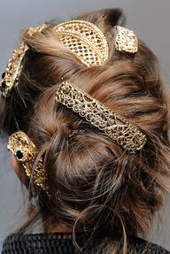Ornamental updo at D