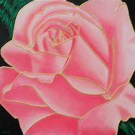 Pink Gold Rose Textu