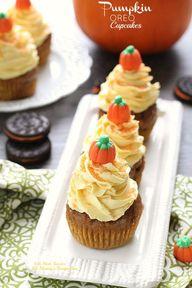 Pumpkin Oreo Cupcake