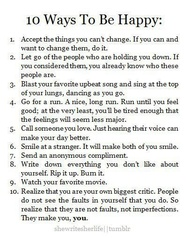 10 Ways to be Happy