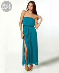 Who's Who Teal Maxi Dress