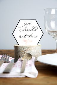 Free placecard print