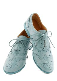 Blue Suave Shoes Flat - Low, Faux Leather, Blue, Solid, Work, Spring, Good, Lace Up, Menswear Inspired