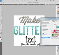make glitter text st