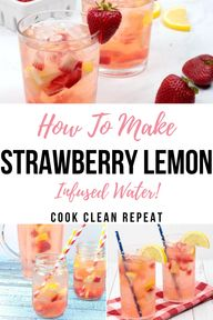 This homemade infused water recipe is delicious, refreshing, and so easy to make. Try out this strawberry lemon water recipe for a hydrating treat everyone will love!