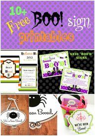 Boo Sign printables