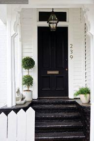front door, front porch
