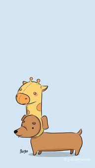 Dachshund wearing giraffe hat