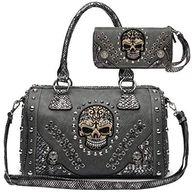 Sugar Skull Day of the Dead Punk Art Purse Removable Strap Women Satchel Handbag Shoulder Bag Wallet Set #Satchels, #Handbags & Wallets, #Women, #Clothing, Shoes & Jewelry,