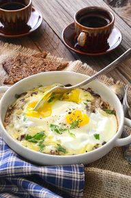 Baked Eggs with Chee
