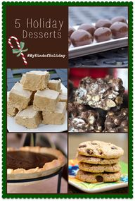 5 holiday desserts .