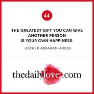 """The greatest gift y"