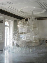 Glass ship #art #ins